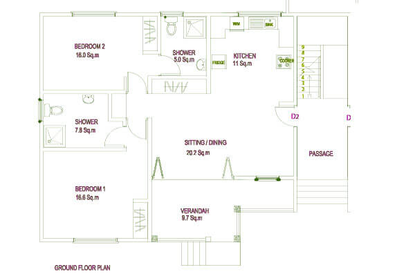 Residance Argine Apartments Seychelles Ground Floorplan